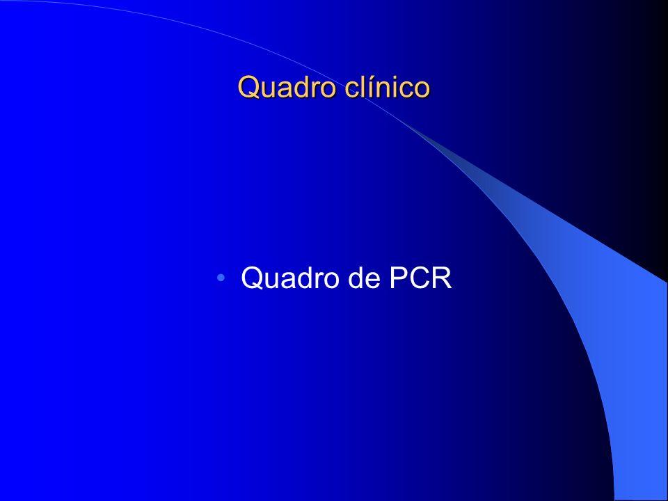 Quadro clínico Quadro de PCR