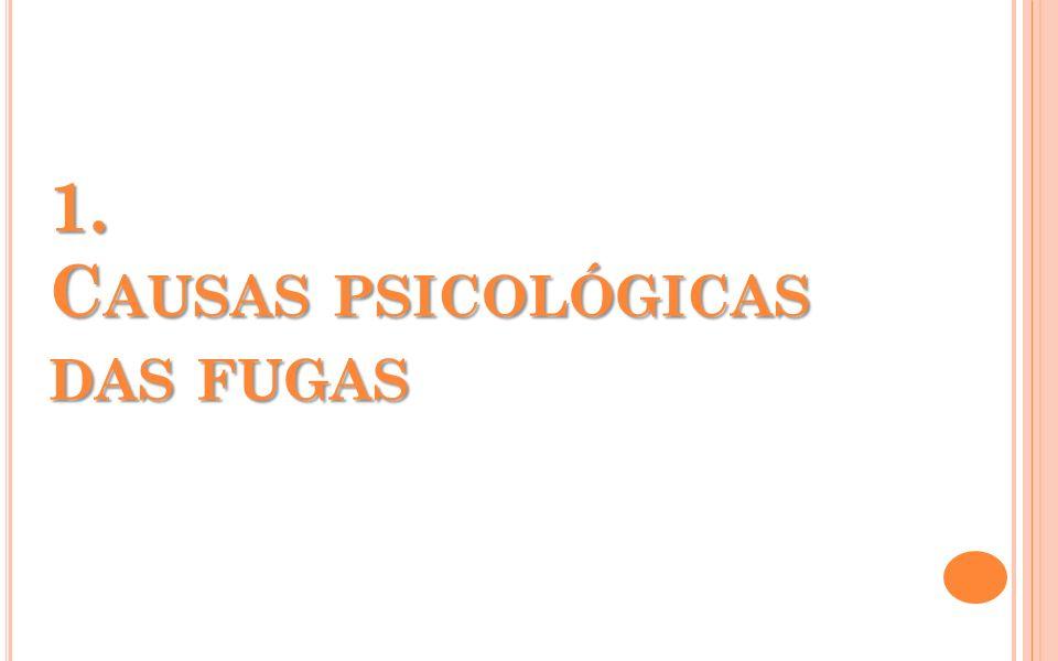 1. CAUSAS PSICOLÓGICAS DAS FUGAS