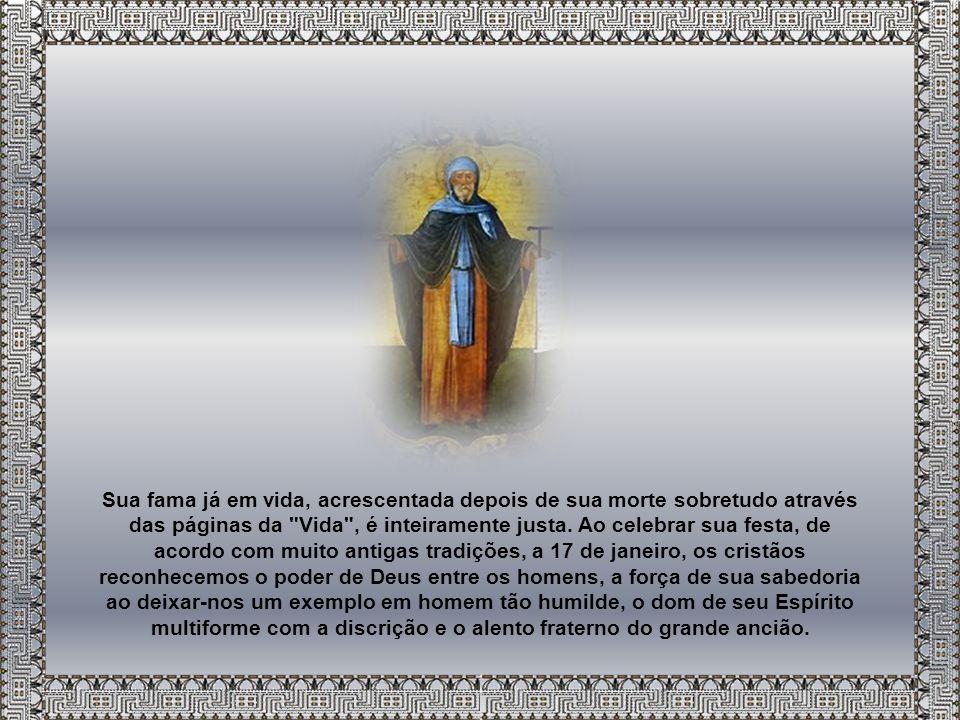 Ainda que a Vida diga explicitamente que Santo Antão não foi o primeiro anacoreta (3,3-5; 4,1-5), sustentando, por outro lado, que foi o primeiro a retirar-se ao deserto do Egito (11,1), e ainda que, além disso, seja muito difícil assinalar origens e iniciadores precisos num movimento humano tão complexo como o monástico, contudo, a figura se sobressai em forma tão extraordinária, que com razão é ele considerado pai da vida monástica e, especialmente, como modelo perfeito da vida solitária.