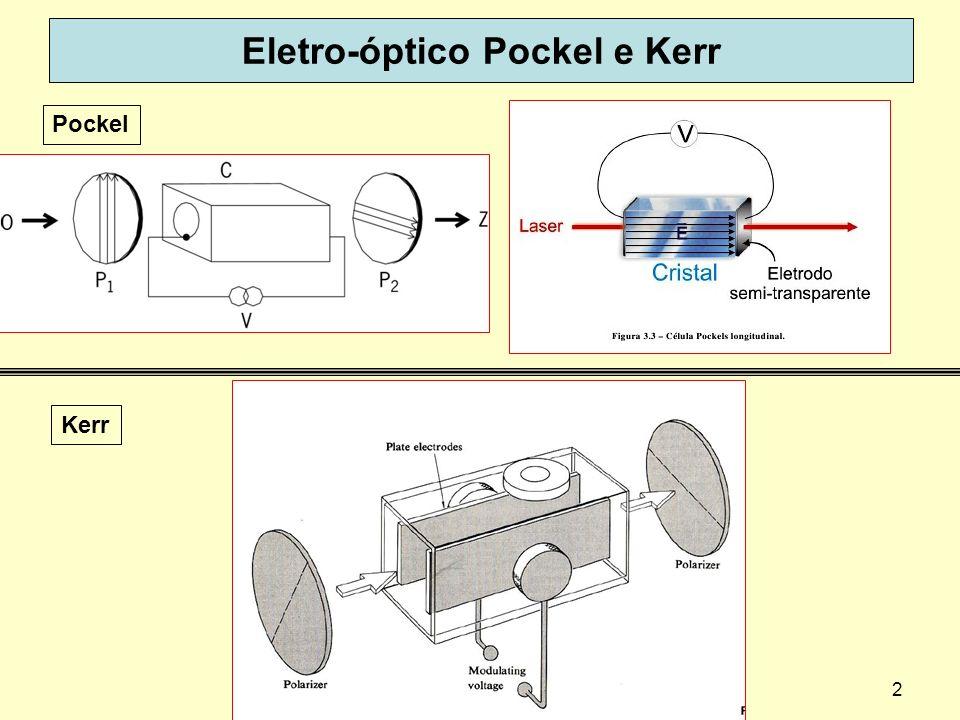 2 Eletro-óptico Pockel e Kerr Pockel Kerr