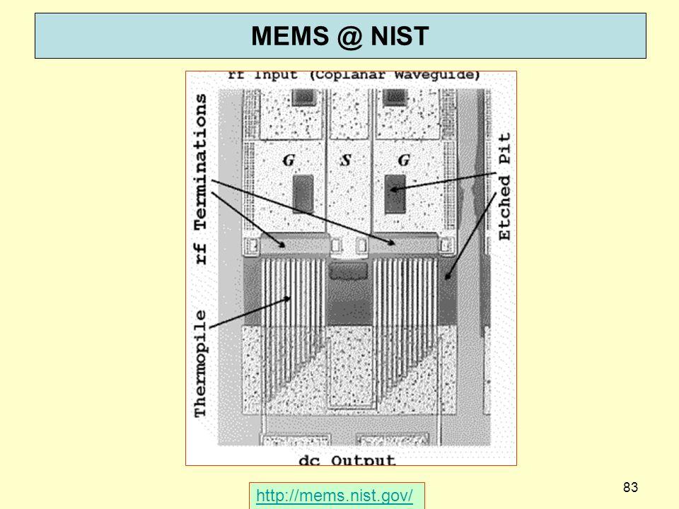 83 MEMS @ NIST http://mems.nist.gov/