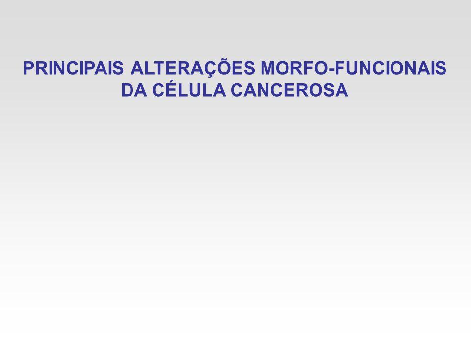 PRINCIPAIS ALTERAÇÕES MORFO-FUNCIONAIS DA CÉLULA CANCEROSA