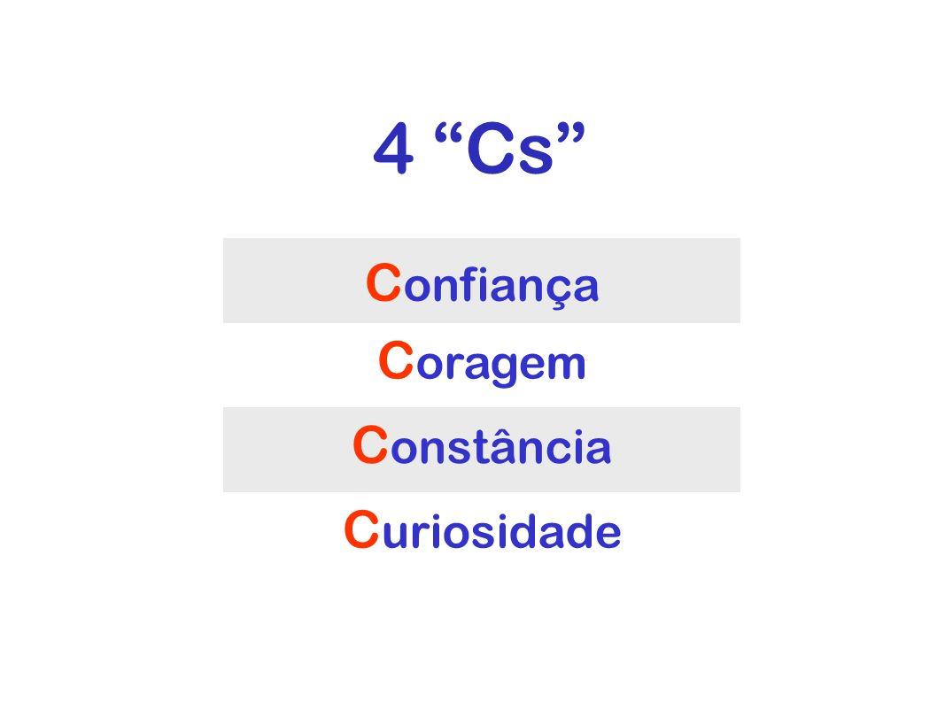 4 Cs C onfiança C oragem C onstância C uriosidade 4 Cs