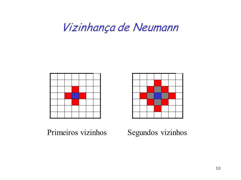 10 Vizinhança de Neumann Primeiros vizinhosSegundos vizinhos