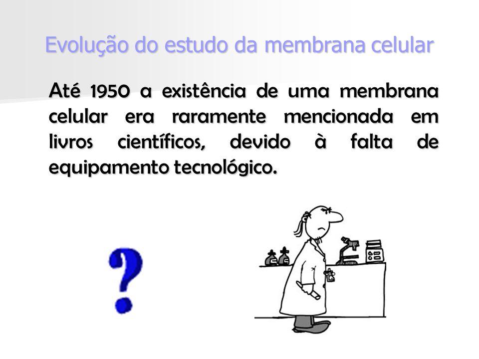 Até 1950 a existência de uma membrana celular era raramente mencionada em livros científicos, devido à falta de equipamento tecnológico.