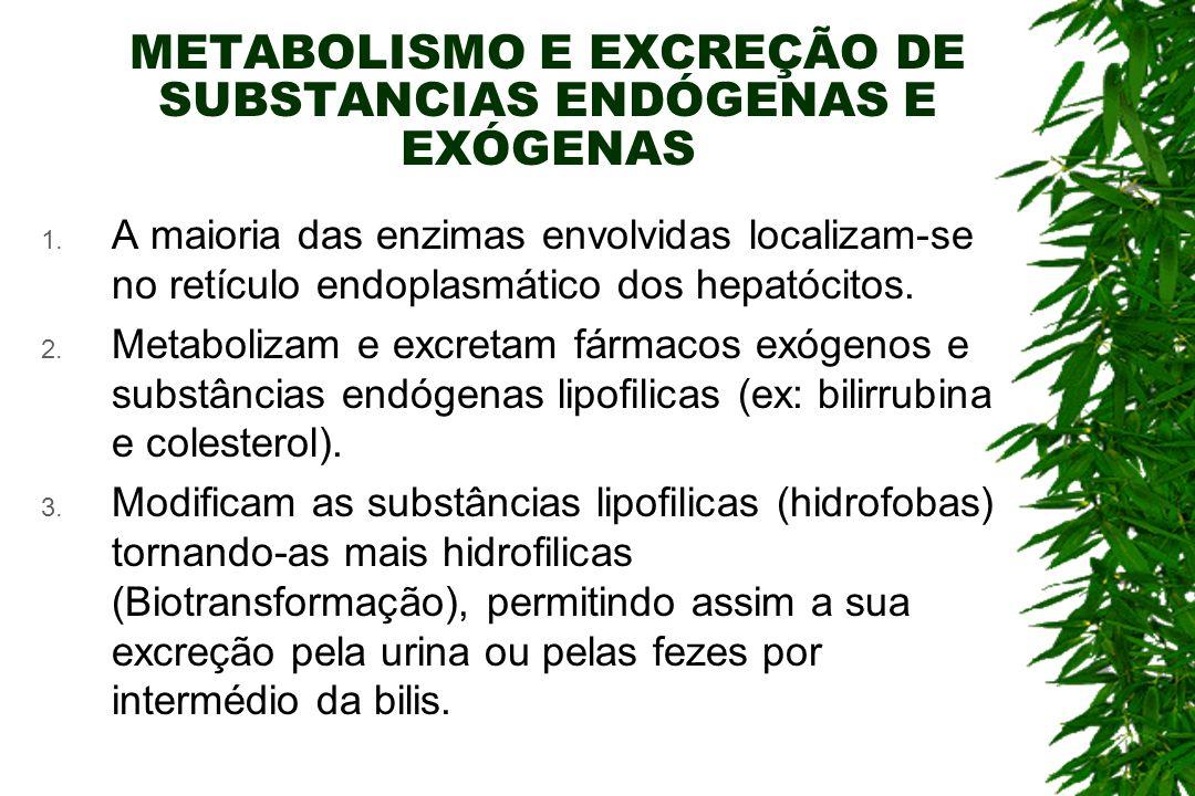 METABOLISMO E EXCREÇÃO DE SUBSTANCIAS ENDÓGENAS E EXÓGENAS 1.