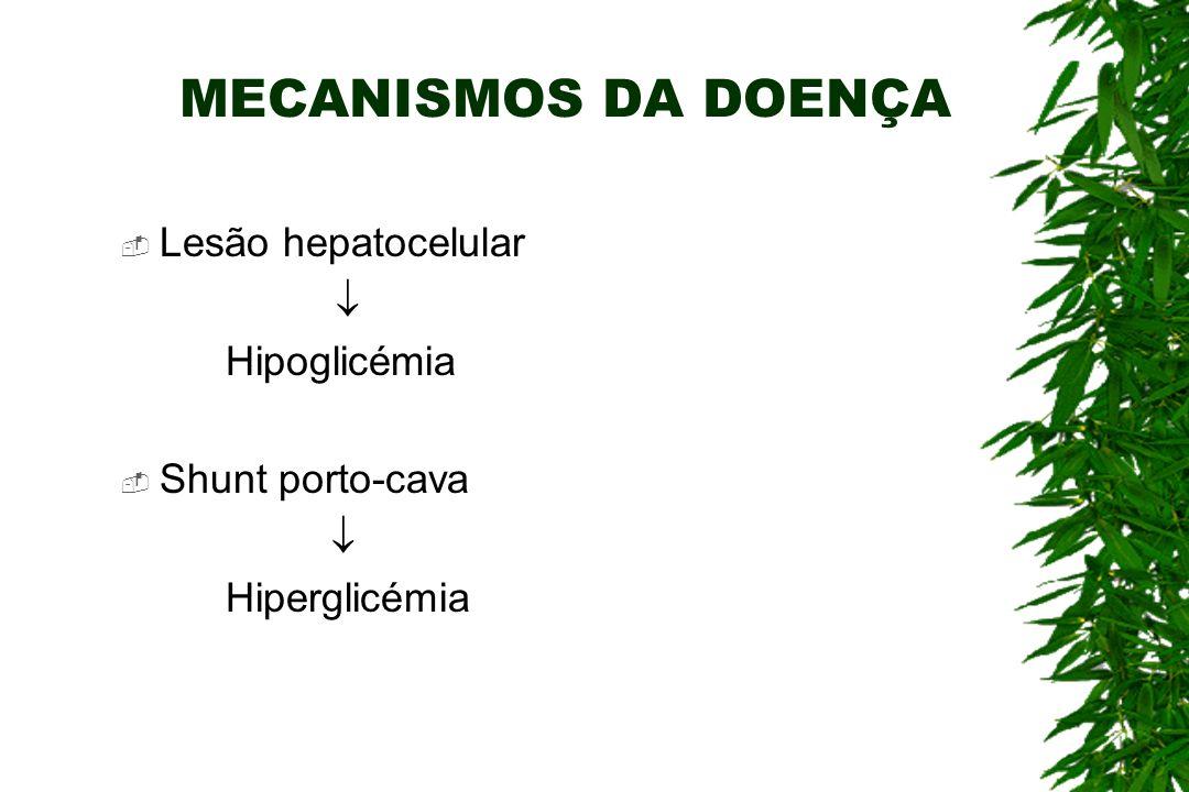 FACTORES DA COAGULAÇÃO O fígado sintetiza várias proteínas da coagulação: Anti-Trombina III Fibrinogénio Proteína C Factores II, VII, IX, X Lesão hepatocelular A diminuição da síntese de proteínas da coagulação origina discrasias hemorrágicas.
