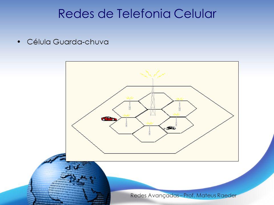 Redes Avançadas – Prof. Mateus Raeder Redes de Telefonia Celular Célula Guarda-chuva