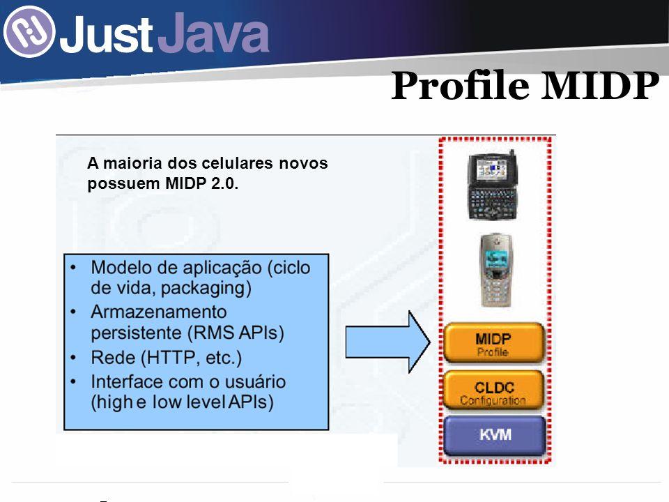 10 Profile MIDP A maioria dos celulares novos possuem MIDP 2.0.