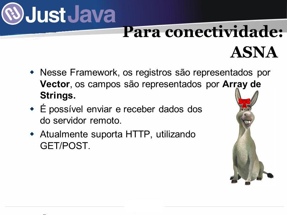55 Nesse Framework, os registros são representados por Vector, os campos são representados por Array de Strings.