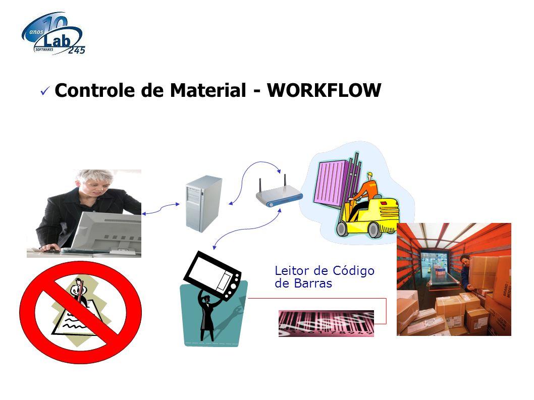 Controle de Material - WORKFLOW Leitor de Código de Barras