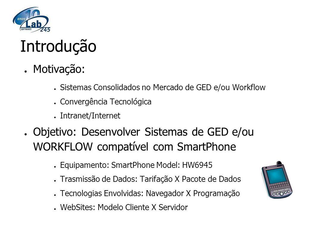 Motivação: Sistemas Consolidados no Mercado de GED e/ou Workflow Convergência Tecnológica Intranet/Internet Objetivo: Desenvolver Sistemas de GED e/ou