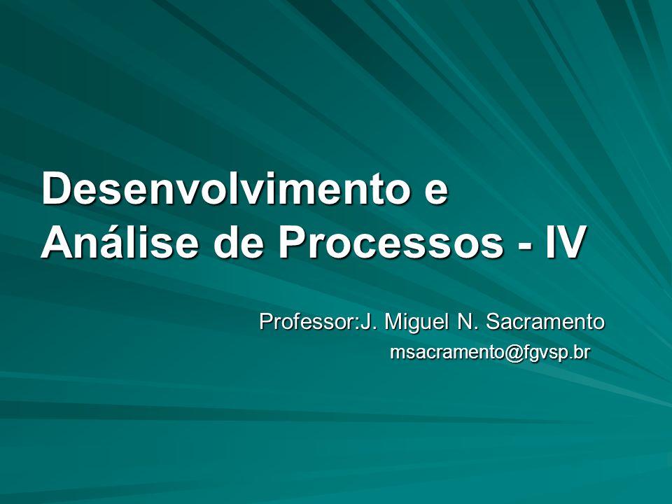 Desenvolvimento e Análise de Processos - IV Professor:J.