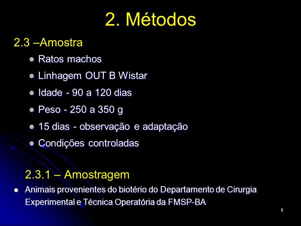 10 2. Métodos 2.4 Procedimentos 2.4.1 - Randomização - Envelopes - Sorteio aleatório - Examinadores