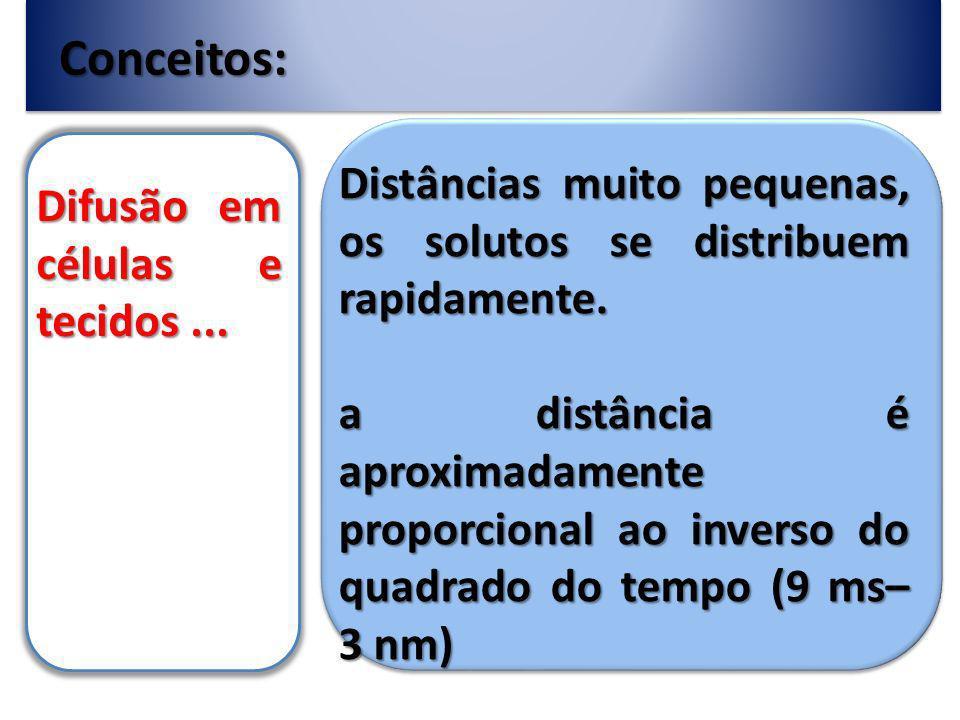 Conceitos: Difusão em células e tecidos...