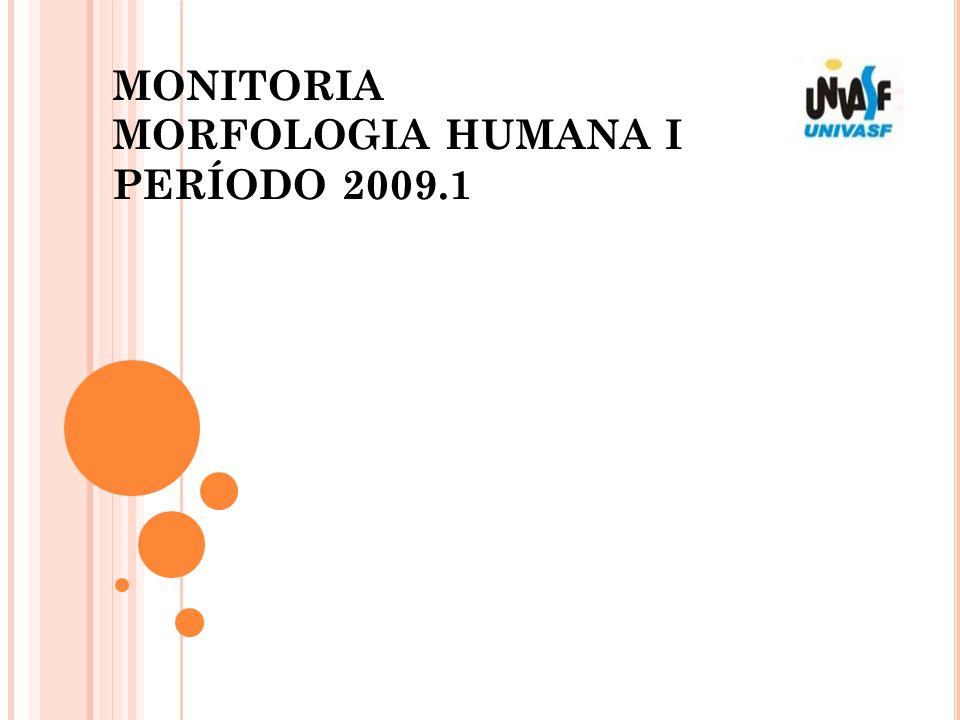 MONITORIA MORFOLOGIA HUMANA I PERÍODO 2009.1