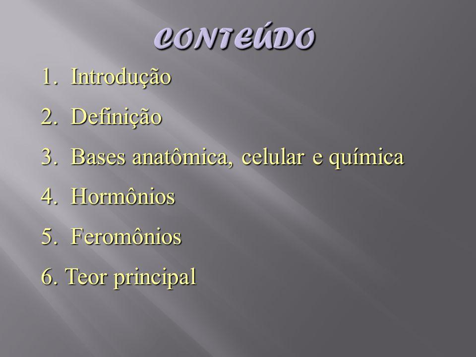 1. Introdução 2. Definição 3. Bases anatômica, celular e química 4. Hormônios 5. Feromônios 6.Teor principal