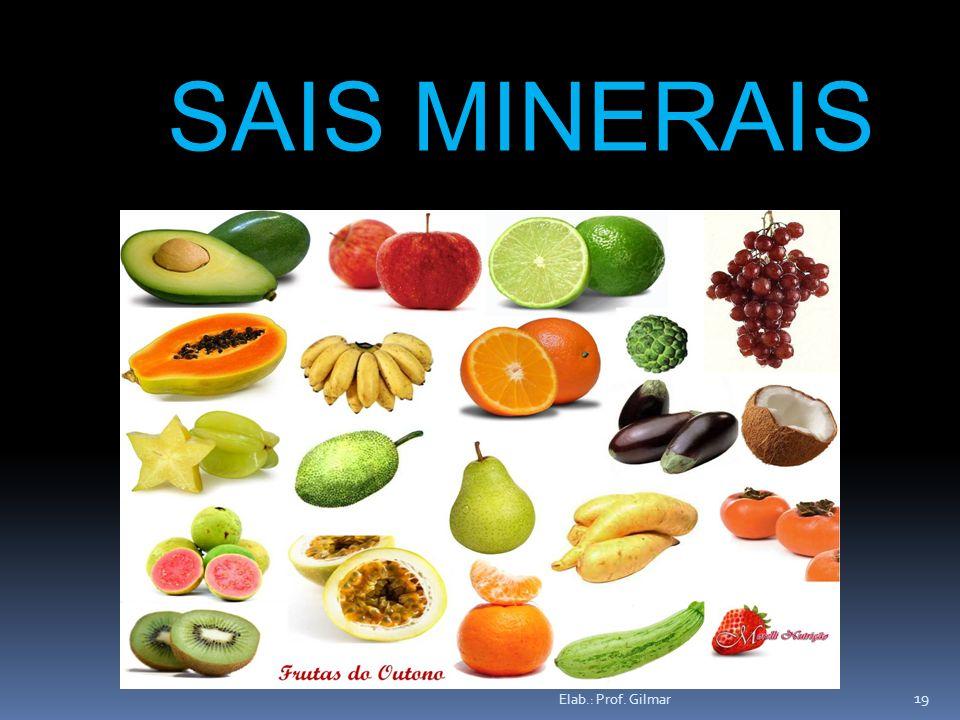 Elab.: Prof. Gilmar 19 SAIS MINERAIS