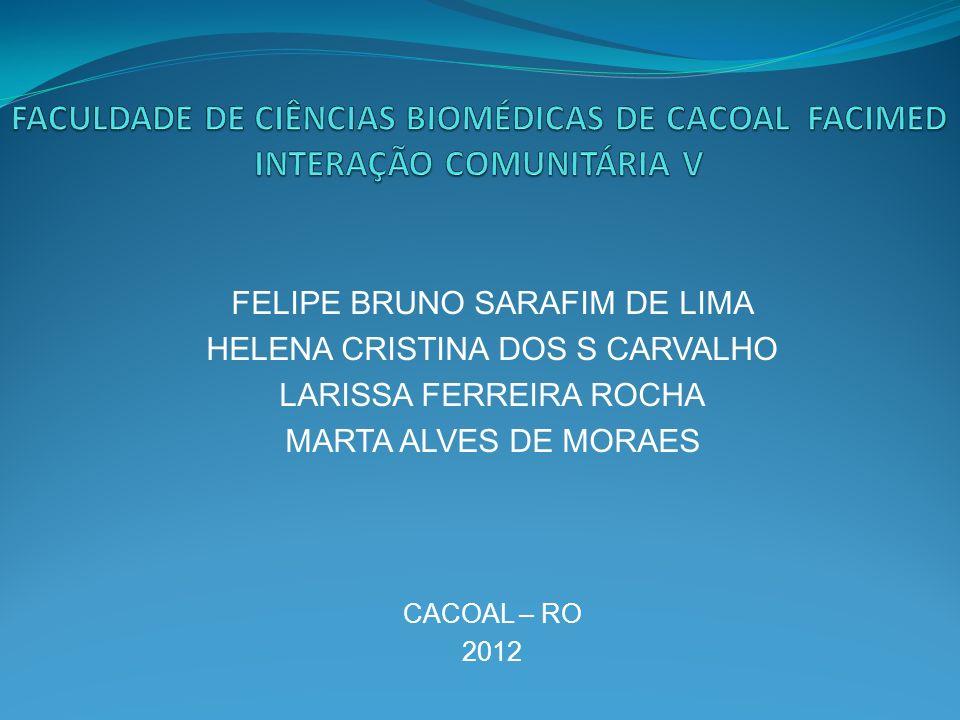 FELIPE BRUNO SARAFIM DE LIMA HELENA CRISTINA DOS S CARVALHO LARISSA FERREIRA ROCHA MARTA ALVES DE MORAES CACOAL – RO 2012