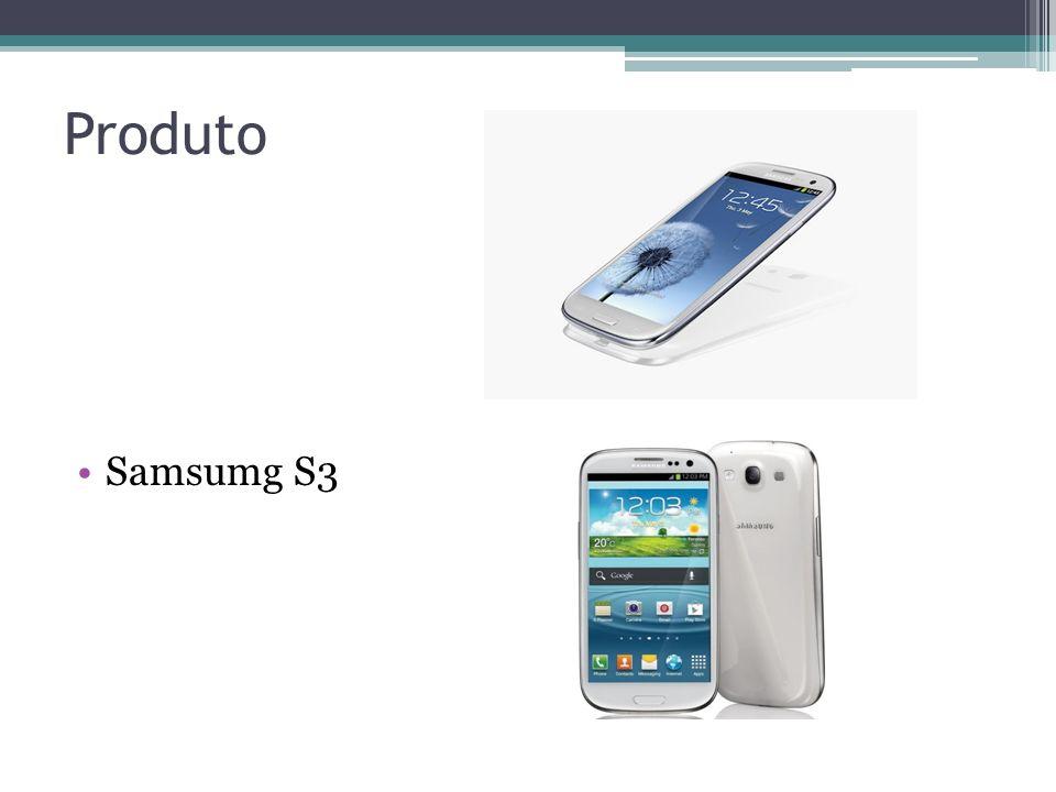 Briefing - Produto Nome: Samsumg Galaxy S3 Descrição: Smartphone Android Propriedades básicas: Tela Super Amoled HD 4,8, Android 4.0, Processador Quad-Core 1.4Ghz, Câmera 8MP Full HD, 3G, Wi-Fi, GPS Propriedades secundárias: Leitor multimídia, rádio, videoconferência, bluetooth, memória interna de 16 GB com a possibilidade de expansão Problemas: Tela frágil, processador ruim, design fraco Aparência física: Dimensões: 136,6 x 70,6 x 8,6 mm Peso: 133g Pequeno histórico: Lançado em Junho de 2012 no Brasil e Maio de 2012 mundialmente.