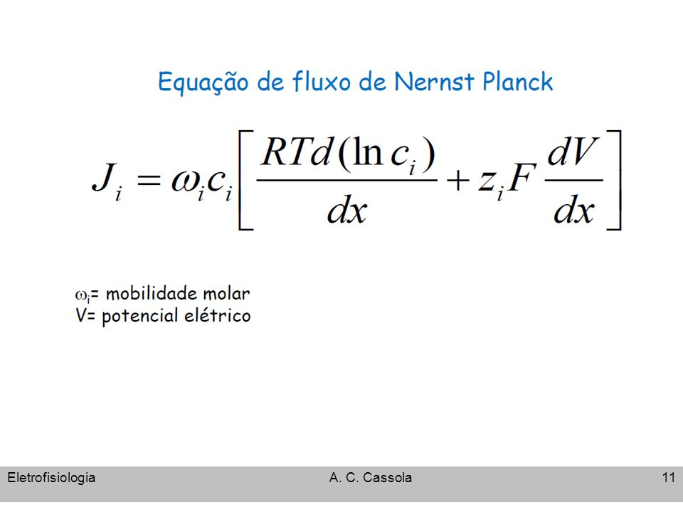 EletrofisiologiaA. C. Cassola11