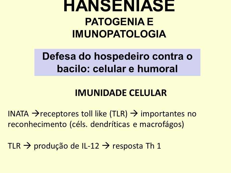 IMUNIDADE CELULAR INATA receptores toll like (TLR) importantes no reconhecimento (céls. dendríticas e macrofágos) TLR produção de IL-12 resposta Th 1