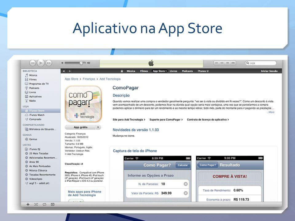 Aplicativo na App Store