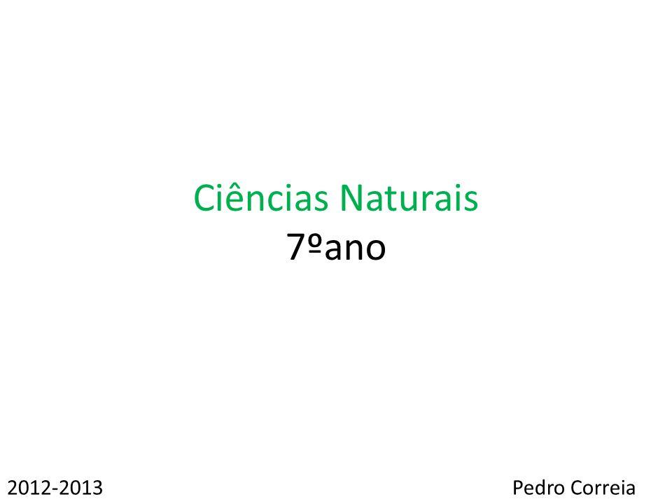 Ciências Naturais 7ºano Pedro Correia2012-2013