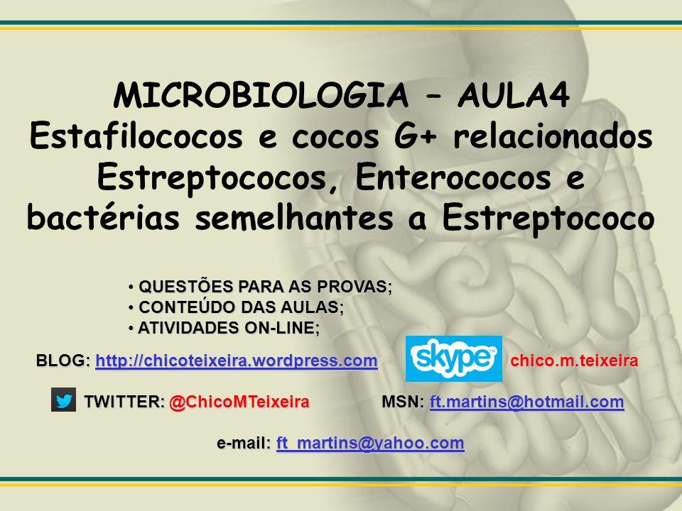 Staphylococcus e Microrganismos Relacionados. Palavra grega staphylé CACHO DE UVAS