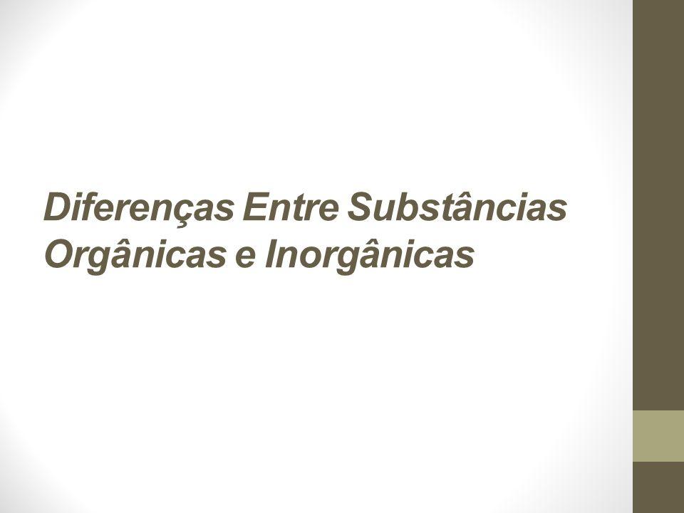 Divisão das Substâncias Inorgânicas As substâncias inorgânicas estão divididas em água e sais minerais.