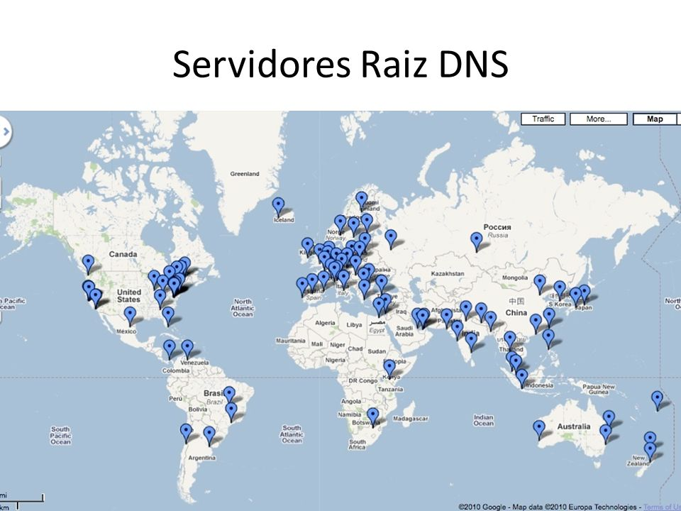 Servidores Raiz DNS