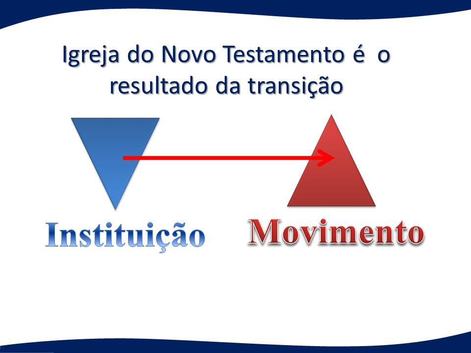 Igreja do Novo Testamento é o resultado da transição