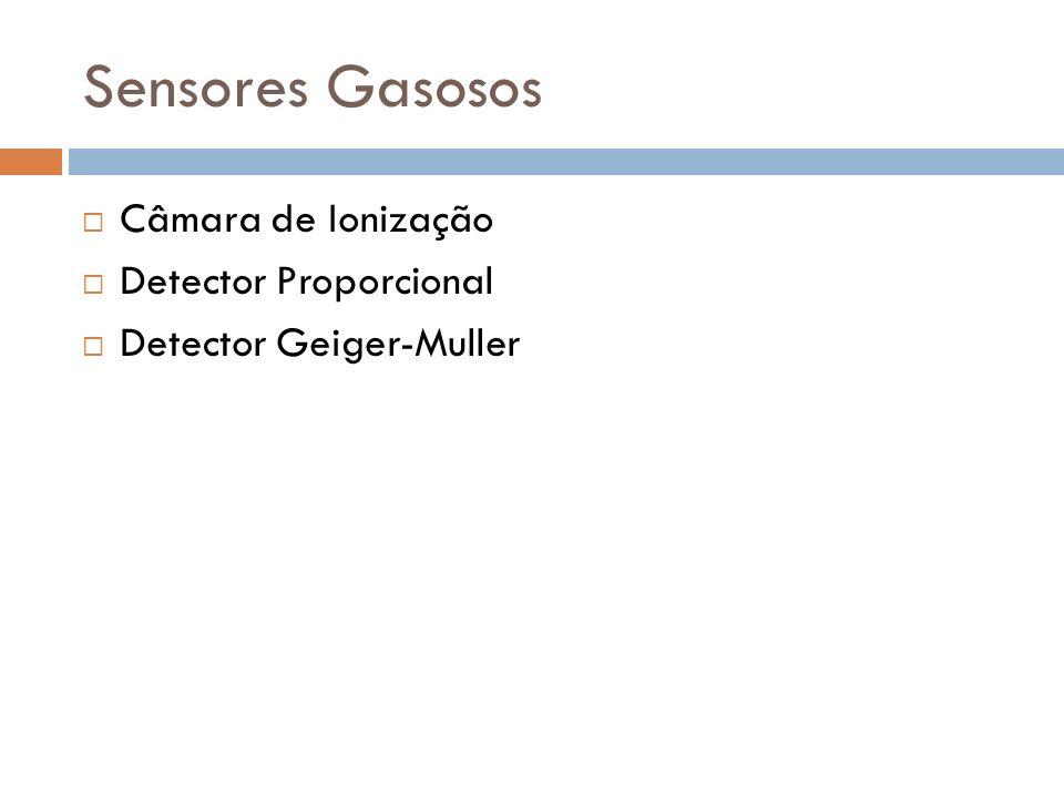 Sensores Gasosos Câmara de Ionização Detector Proporcional Detector Geiger-Muller