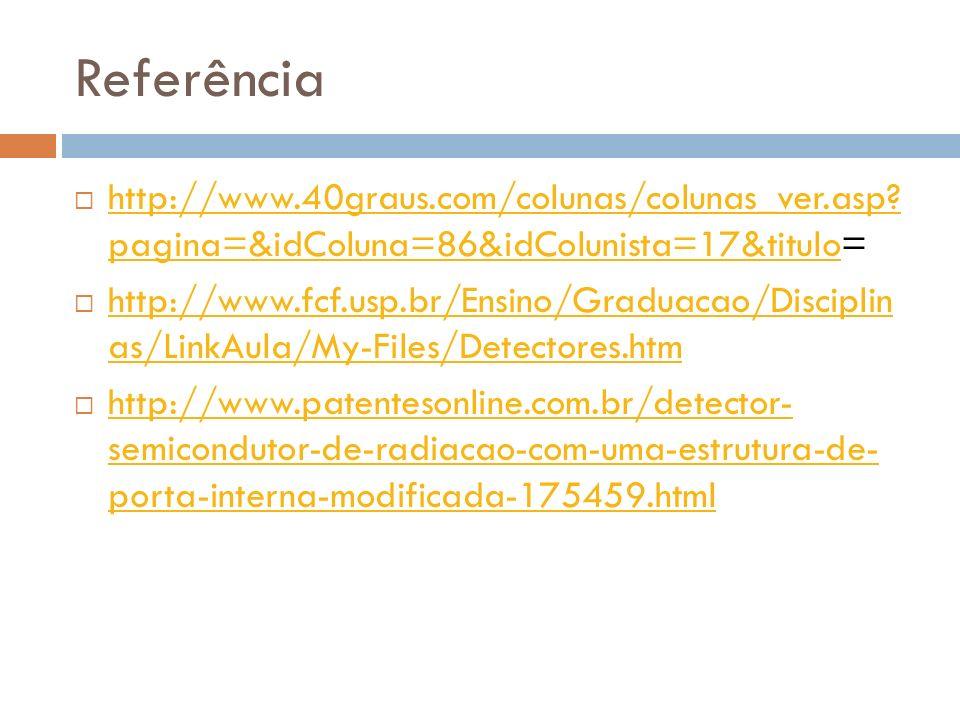 Referência http://www.40graus.com/colunas/colunas_ver.asp? pagina=&idColuna=86&idColunista=17&titulo= http://www.40graus.com/colunas/colunas_ver.asp?