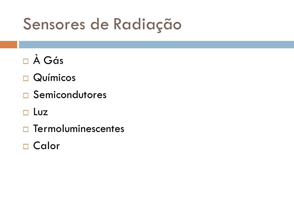 Sensores de Radiação À Gás Químicos Semicondutores Luz Termoluminescentes Calor