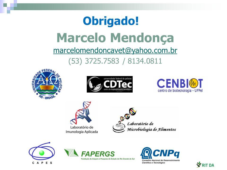 Marcelo Mendonça marcelomendoncavet@yahoo.com.br (53) 3725.7583 / 8134.0811 Obrigado!