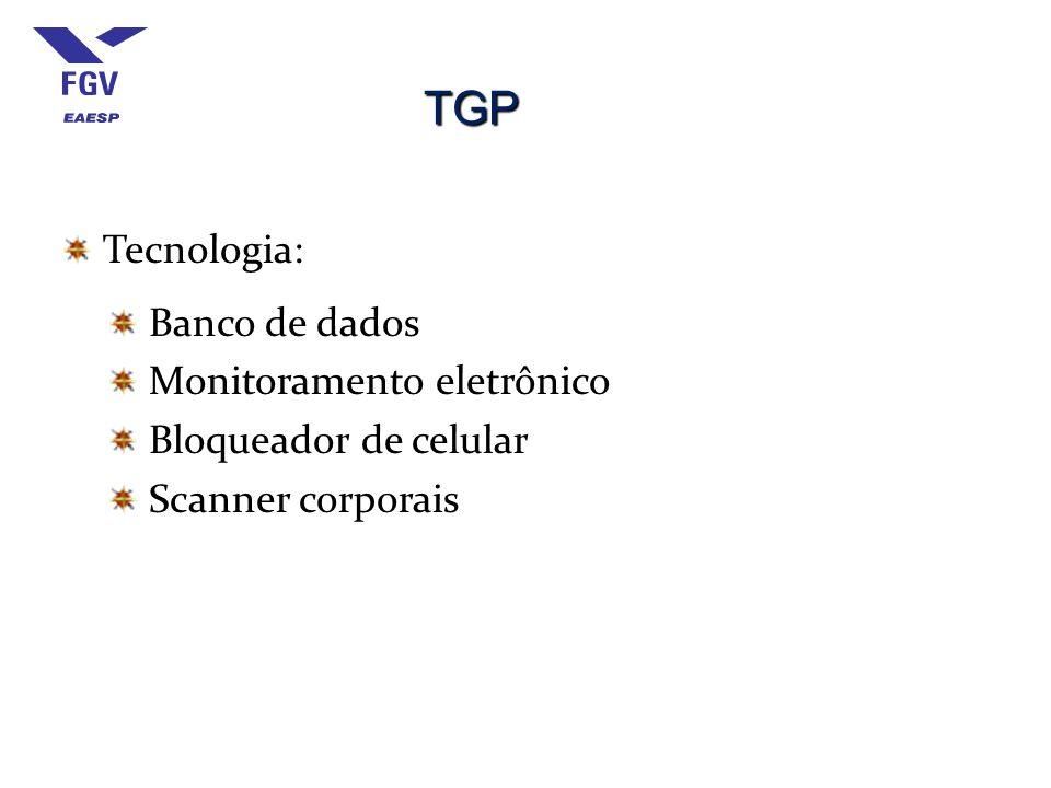 TGP Tecnologia: Banco de dados Monitoramento eletrônico Bloqueador de celular Scanner corporais