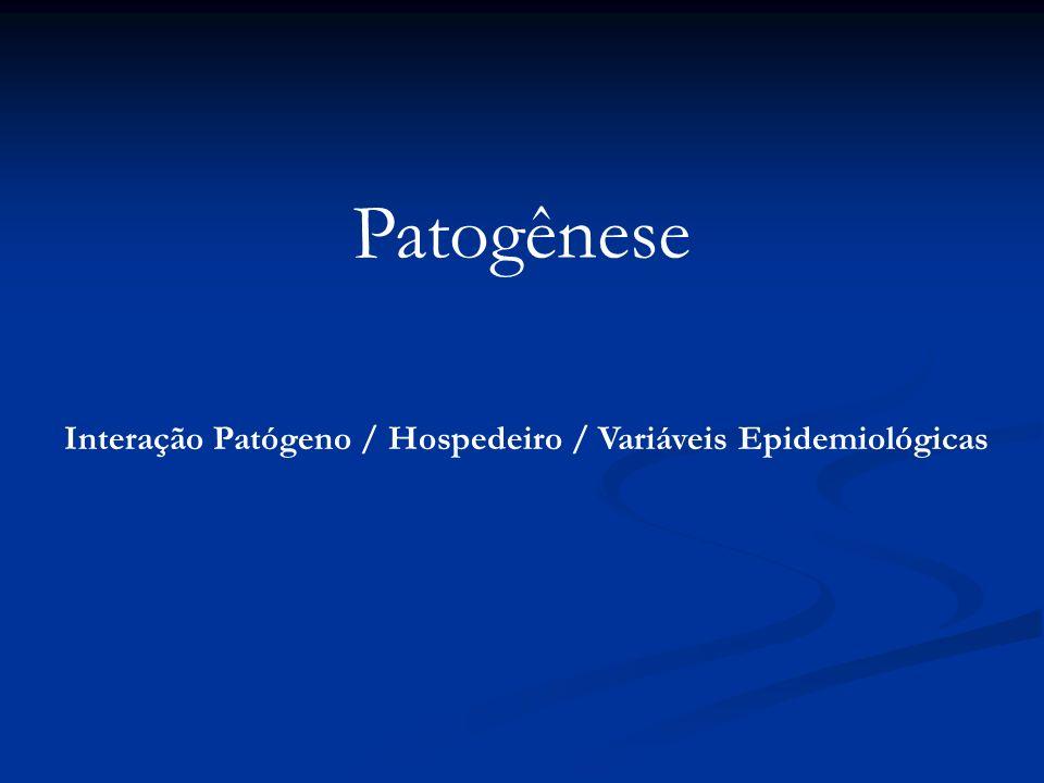 Patogênese Interação Patógeno / Hospedeiro / Variáveis Epidemiológicas