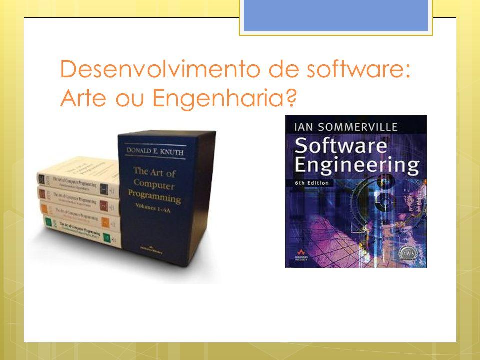 Desenvolvimento de software: Arte ou Engenharia?