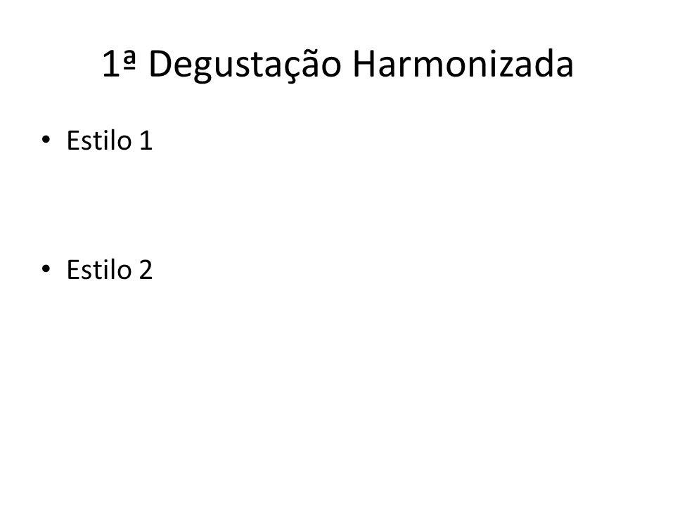 1ª Degustação Harmonizada Estilo 1 Estilo 2