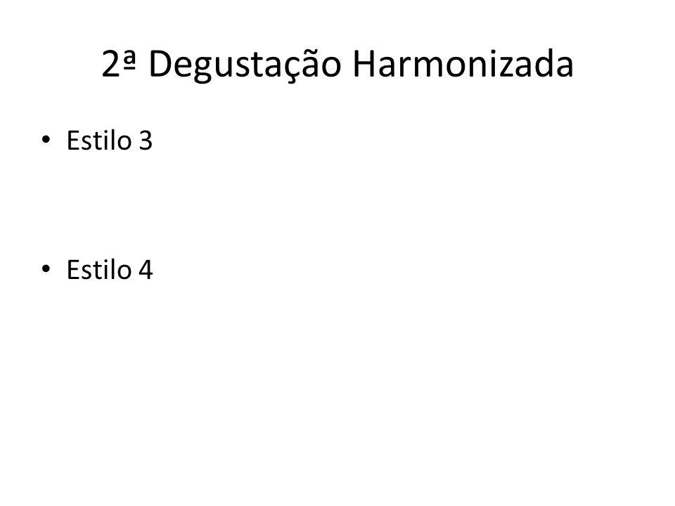 2ª Degustação Harmonizada Estilo 3 Estilo 4
