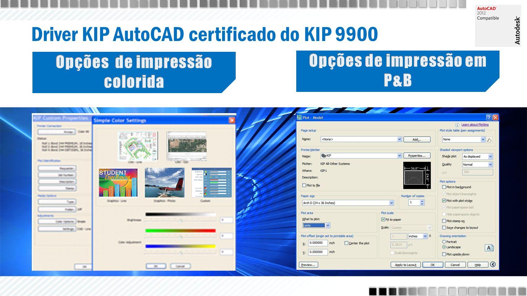 Driver KIP AutoCAD certificado do KIP 9900