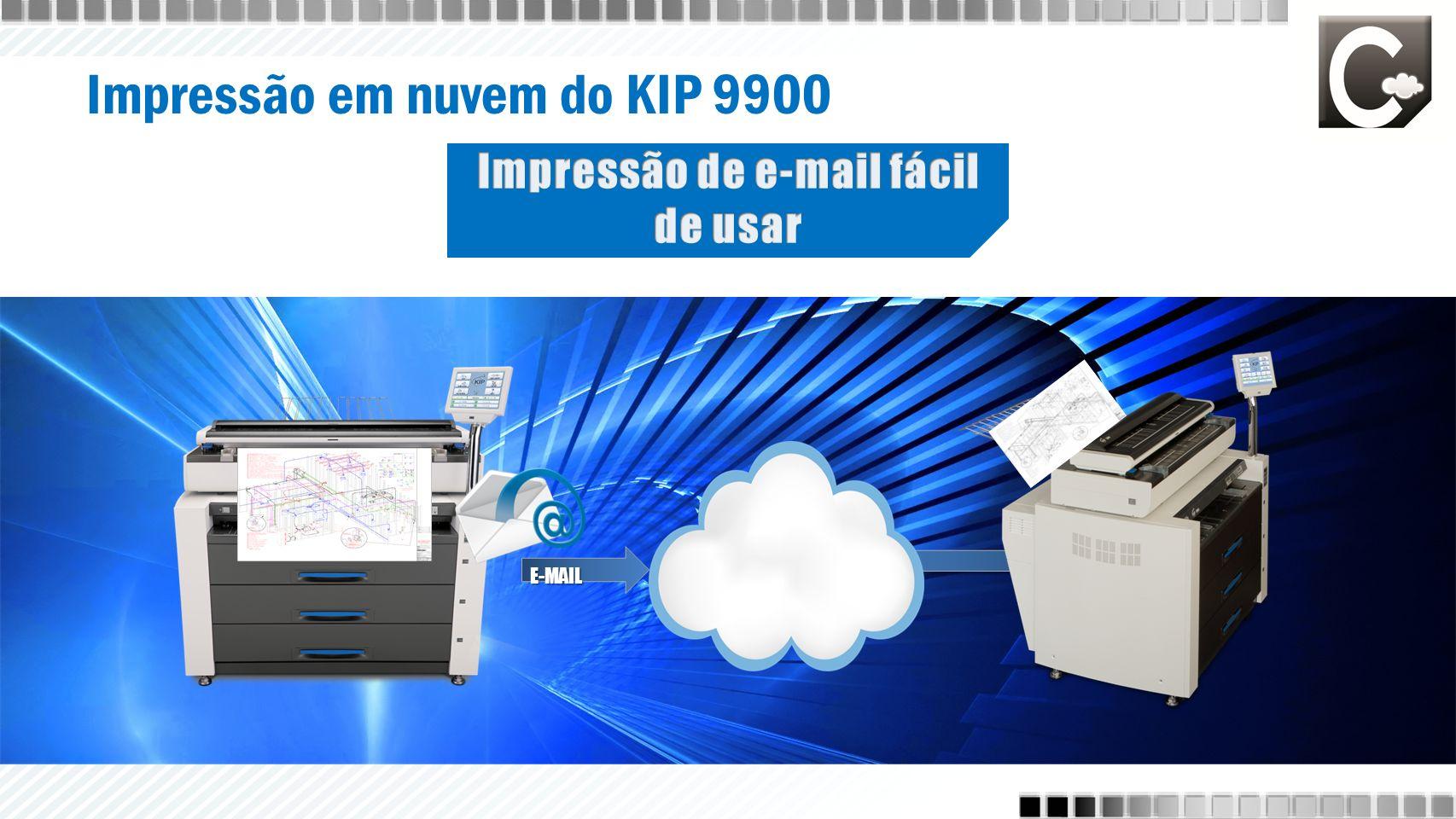 Impressão em nuvem do KIP 9900 E-MAIL