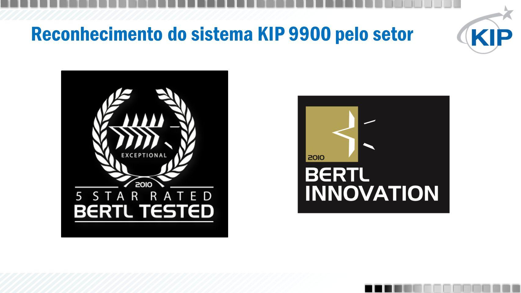 Reconhecimento do sistema KIP 9900 pelo setor