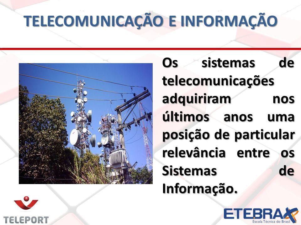 TELECOMUNICAÇÃO E INFORMAÇÃO Os sistemas de telecomunicações adquiriram nos últimos anos uma posição de particular relevância entre os Sistemas de Inf