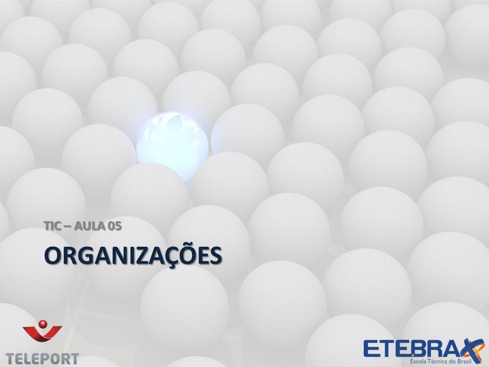 ORGANIZAÇÕES Uma organização é um conjunto de pessoas e de outros recursos estabelecidos para cumprir um conjunto de metas.
