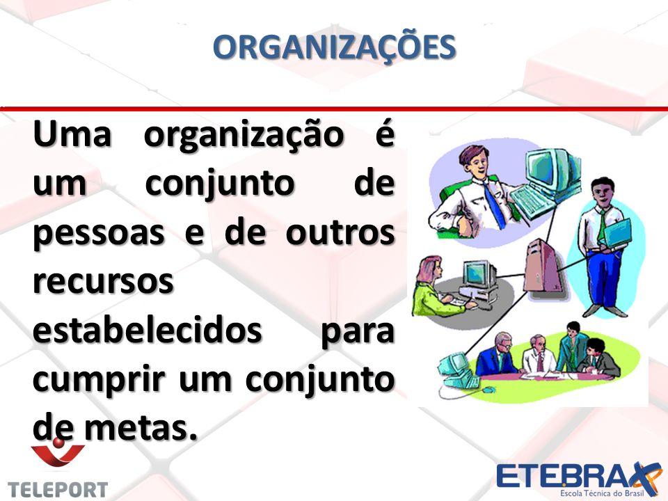 Consequentemente, uma organização também é um sistema, pois envolve diversos recursos (financeiros, materiais, equipamentos, pessoas, etc) e dados que estão em constante processo de transformação.