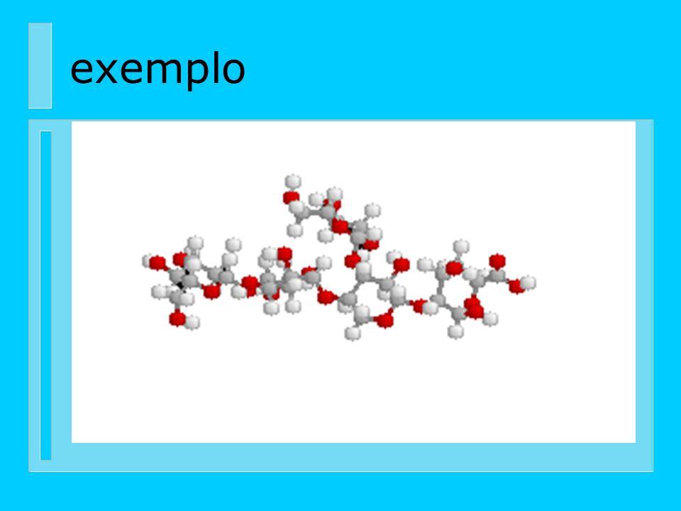 Polioses (hemiceluloses) n Estão em estreita associação com a celulose na parede celular. Cinco açucares neutros, as hexoses : glucoses, manose e gala