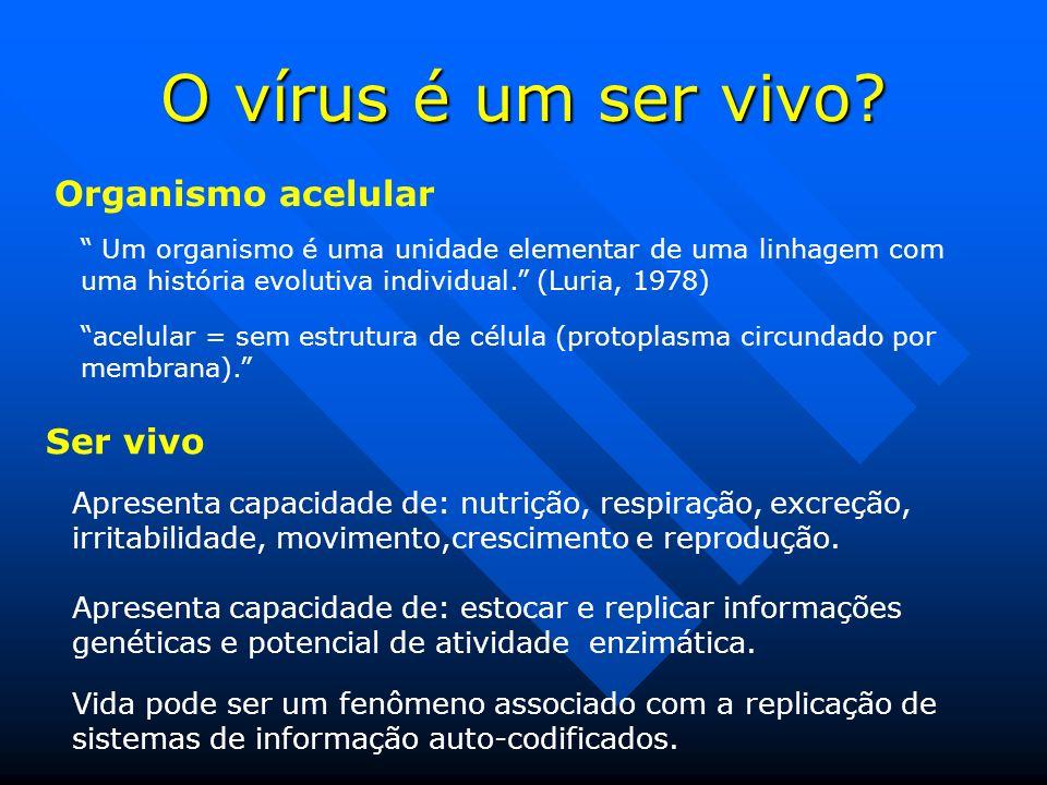 O vírus é um ser vivo.