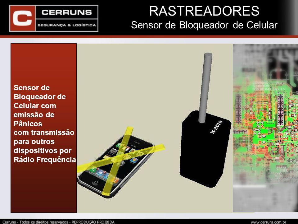 RASTREADORES Sensor de Bloqueador de Celular Sensor de Bloqueador de Celular com emissão de Pânicos com transmissão para outros dispositivos por Rádio